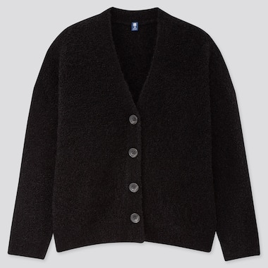 GIRLS BOUCLE YARN CARDIGAN