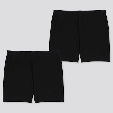 GIRLS UNDERSHORTS (SET OF 2), BLACK, medium