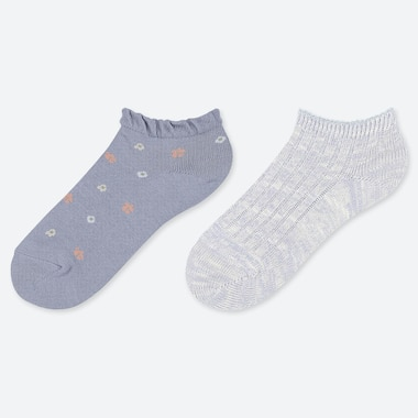 GIRLS ANKLE SOCKS (TWO PAIRS)