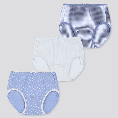 Girls Shorts (Set Of 3), Blue, Medium