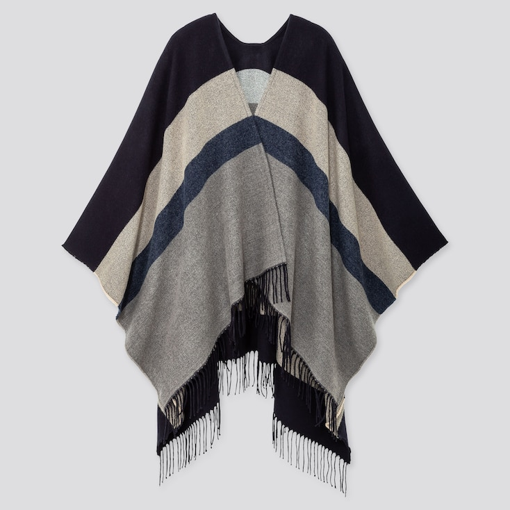 2-WAY MULTI-COLOR BLOCK STOLE, NAVY, large