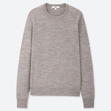 Women 100% Extra Fine Merino Wool Crew Neck Jumper