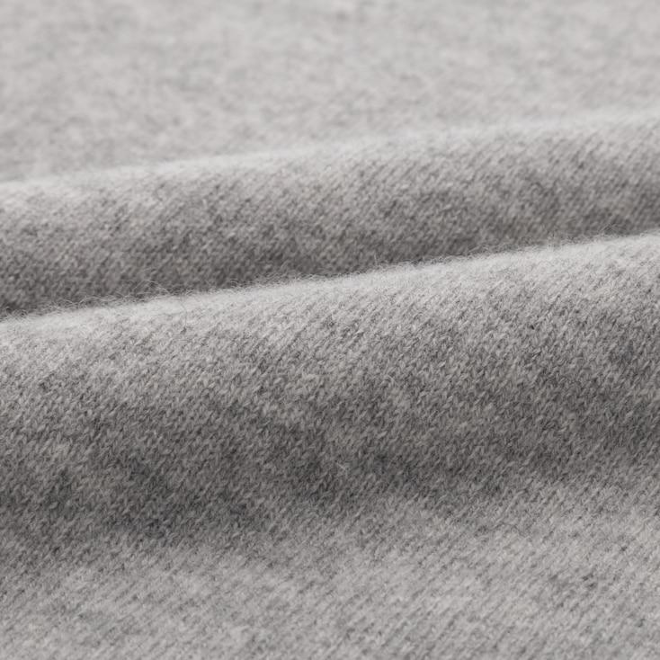 Women Cashmere V-Neck Sweater, Dark Gray, Large