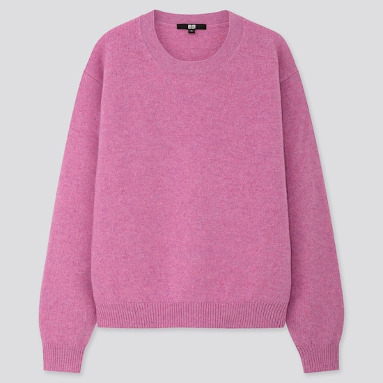 women-premium-lambswool-crew-neck-jumper--(3) by uniqlo