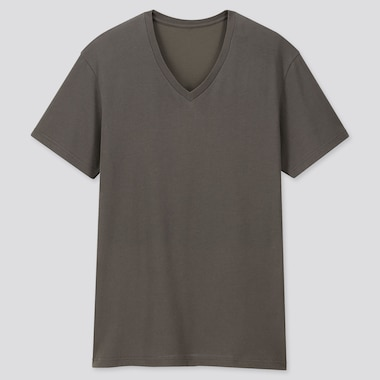 MEN PACKAGED DRY V-NECK SHORT-SLEEVE T-SHIRT, DARK GREEN, medium