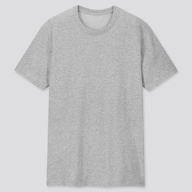 MEN PACKAGED DRY CREW NECK SHORT-SLEEVE T-SHIRT, GRAY, medium