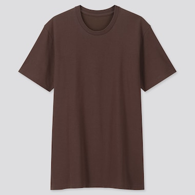 Men Packaged Dry Crew Neck Short-Sleeve T-Shirt, Brown, Medium