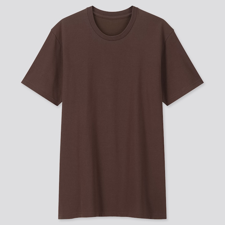 Men Packaged Dry Crew Neck Short-Sleeve T-Shirt, Brown, Large