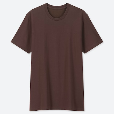 Men Packaged Dry Crew Neck Short-Sleeve T-Shirt, Dark Brown, Medium