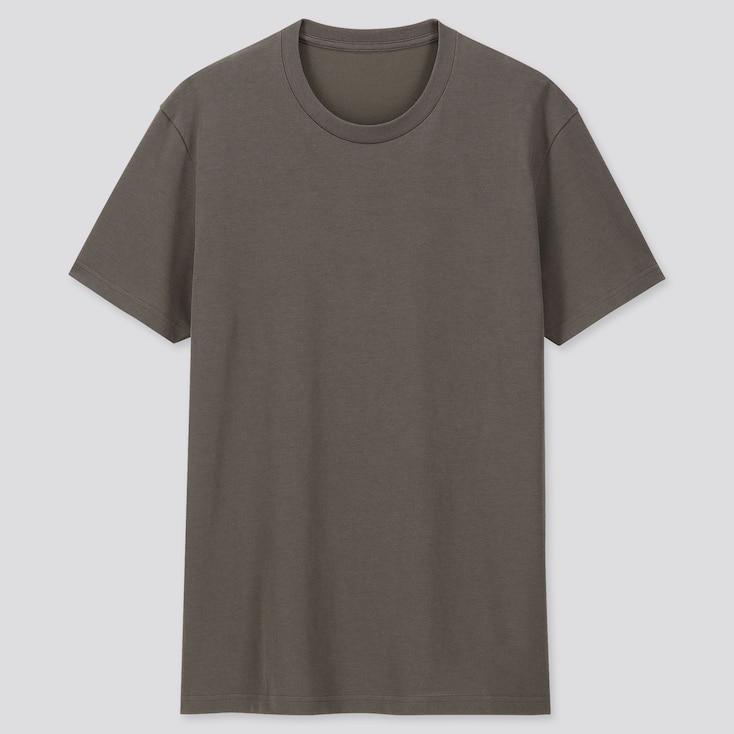 MEN PACKAGED DRY CREW NECK SHORT-SLEEVE T-SHIRT, DARK GREEN, large