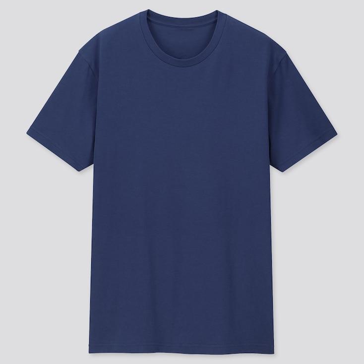 Men Packaged Dry Crew Neck Short-Sleeve T-Shirt, Blue, Large