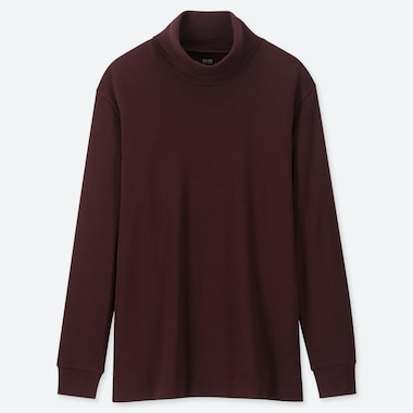 MEN SOFT TOUCH TURTLENECK LONG-SLEEVE T-SHIRT, WINE, medium