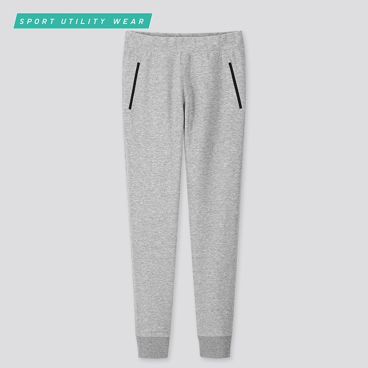 Men Dry Stretch Sweatpants, Gray, Large