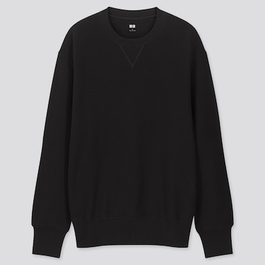 Men Long-Sleeve Sweatshirt, Black, Medium