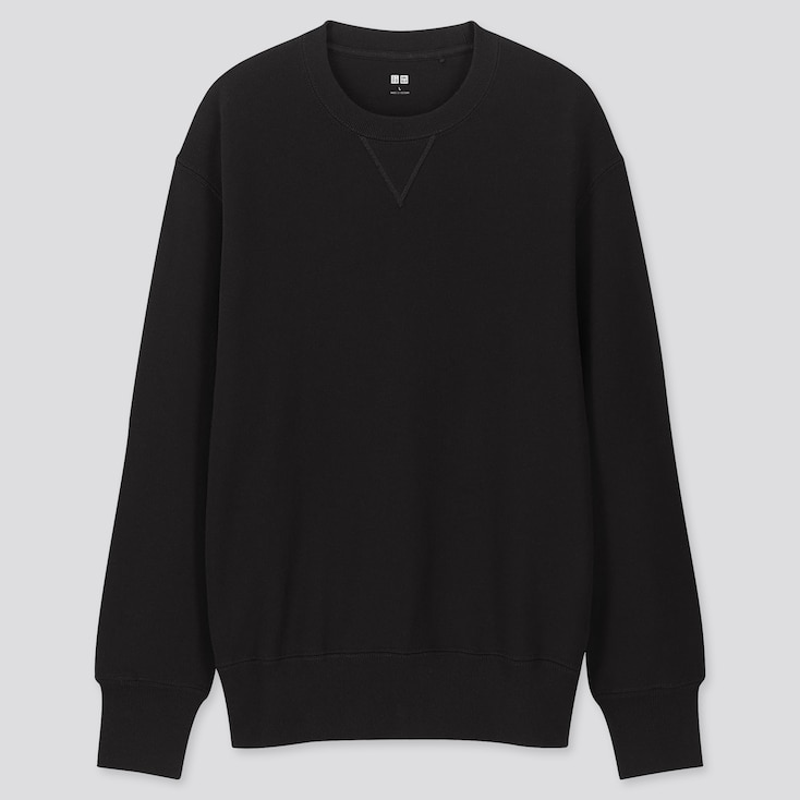 MEN LONG-SLEEVE SWEATSHIRT, BLACK, large