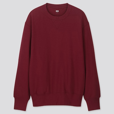 MEN LONG-SLEEVE SWEATSHIRT, RED, medium