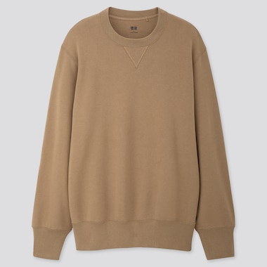 MEN LONG-SLEEVE SWEATSHIRT, BEIGE, medium