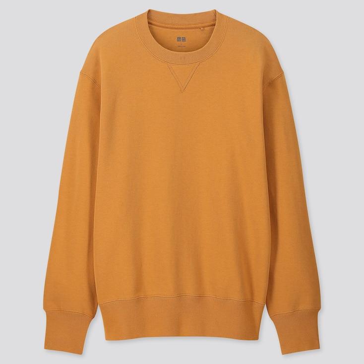 Men Long-Sleeve Sweatshirt, Yellow, Large