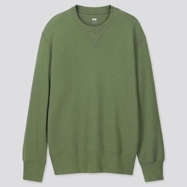 Men Long-Sleeve Sweatshirt, Green, Medium