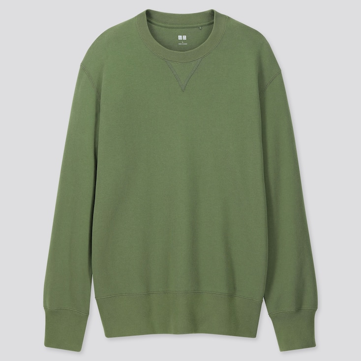 MEN LONG-SLEEVE SWEATSHIRT, GREEN, large