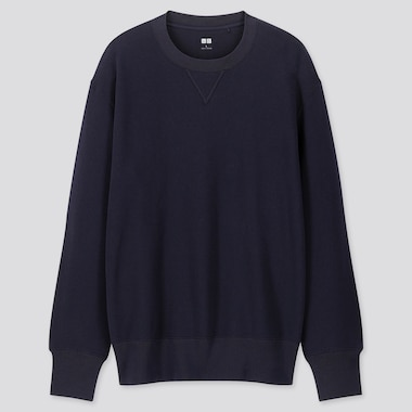 Men Long-Sleeve Sweatshirt, Navy, Medium