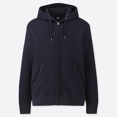 MEN LONG SLEEVED SWEAT ZIPPED HOODIE
