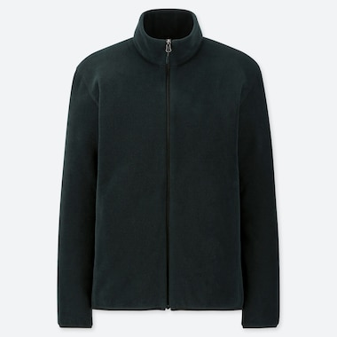 MEN FLEECE ZIPPED JACKET