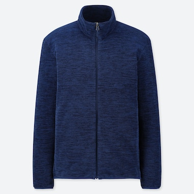 MEN FLEECE LONG-SLEEVE FULL-ZIP JACKET, BLUE, medium