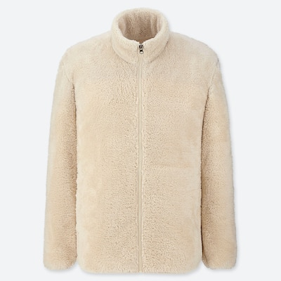 Men Fluffy Fleece Zipped Jacket (65) by Uniqlo