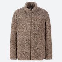 FLUFFY YARN FLEECE FULL-ZIP JACKET