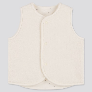 BABIES NEWBORN FLUFFY YARN FLEECE REVERSIBLE VEST