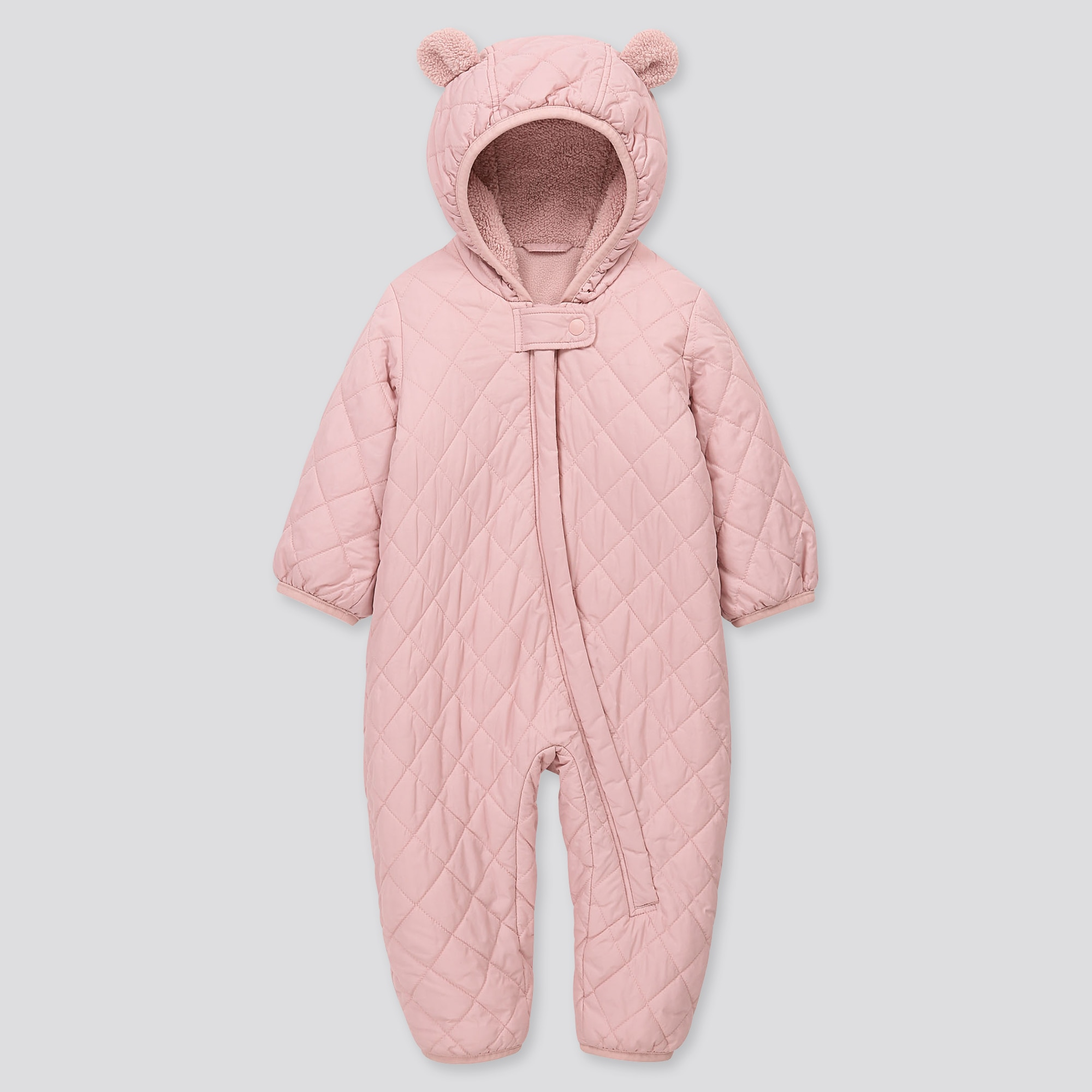 NEWBORN WARM PADDED LONG-SLEEVE ONE PIECE OUTFIT