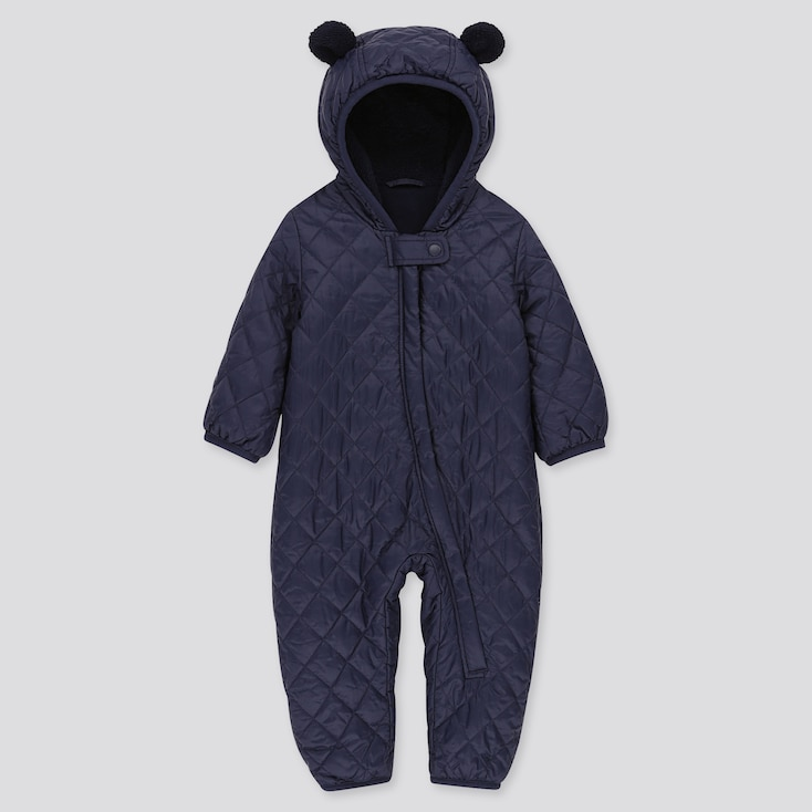 NEWBORN WARM PADDED LONG-SLEEVE ONE PIECE OUTFIT, NAVY, large