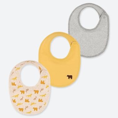 BABIES NEWBORN ANIMAL PRINT BIBS (THREE PACK)