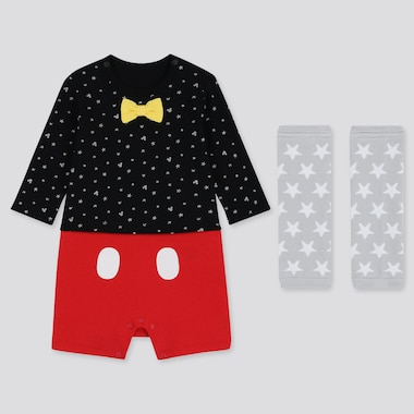 NEWBORN DISNEY LONG-SLEEVE BODYSUIT GIFT SET (SET OF 2), BLACK, medium