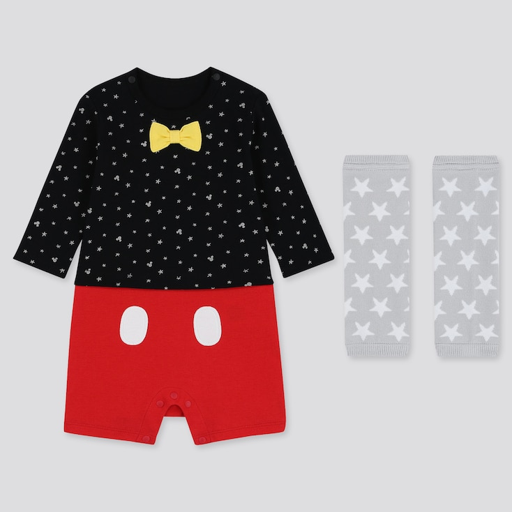 NEWBORN DISNEY LONG-SLEEVE BODYSUIT GIFT SET (SET OF 2), BLACK, large