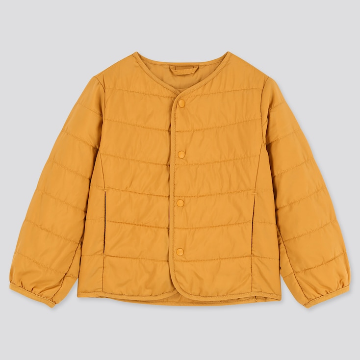 Toddler Compact Jacket Light Warm Padded, Yellow, Large