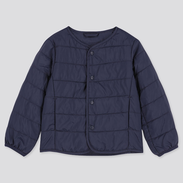 TODDLER COMPACT JACKET LIGHT WARM PADDED, NAVY, large