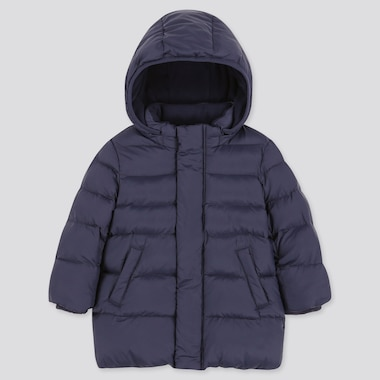 Toddler Warm Padded Coat, Navy, Medium