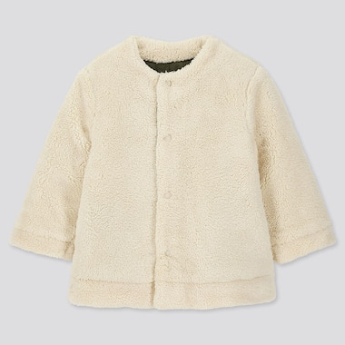 TODDLER WARM PADDED REVERSIBLE COAT, OFF WHITE, medium