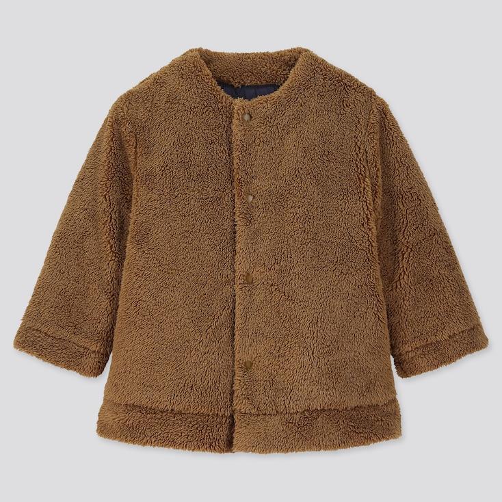 TODDLER WARM PADDED REVERSIBLE COAT, BROWN, large