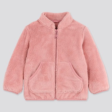 TODDLER FLUFFY YARN FLEECE LONG-SLEEVE JACKET, PINK, medium