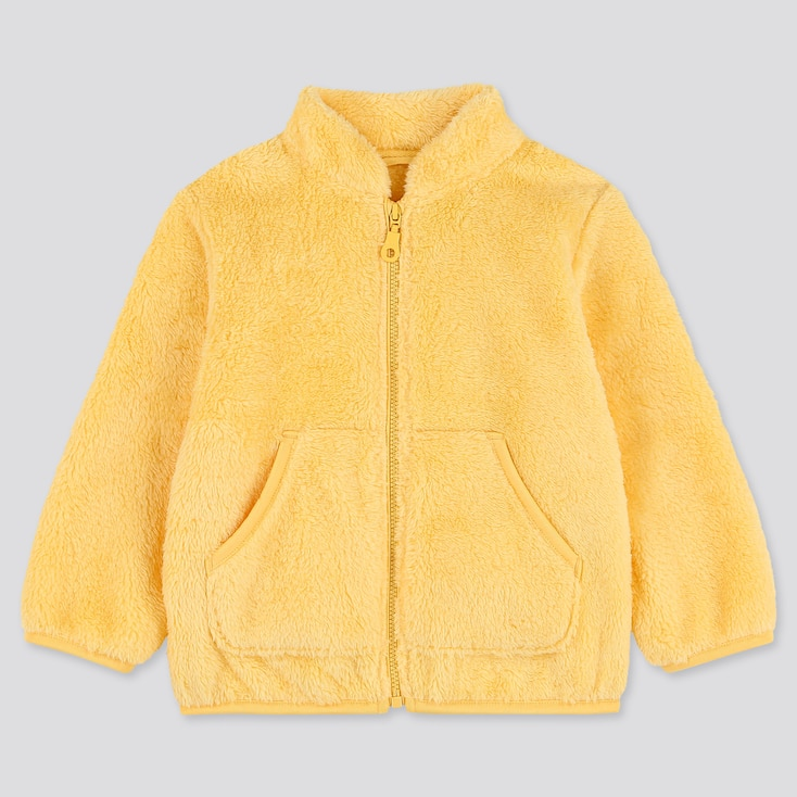 TODDLER FLUFFY YARN FLEECE LONG-SLEEVE JACKET, YELLOW, large