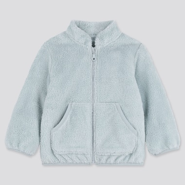 TODDLER FLUFFY YARN FLEECE LONG-SLEEVE JACKET, LIGHT BLUE, medium