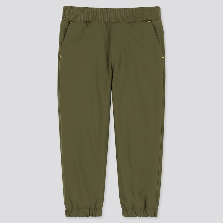 TODDLER WARM-LINED STRETCH PANTS, OLIVE, large