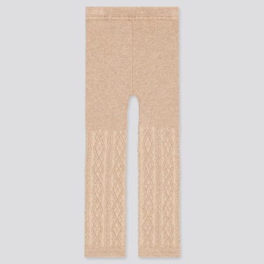 TODDLER KNITTED LEGGINGS, NATURAL, medium