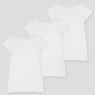 TODDLER COTTON INNER SHORT-SLEEVE T-SHIRT (SET OF 3) (ONLINE EXCLUSIVE), WHITE, medium