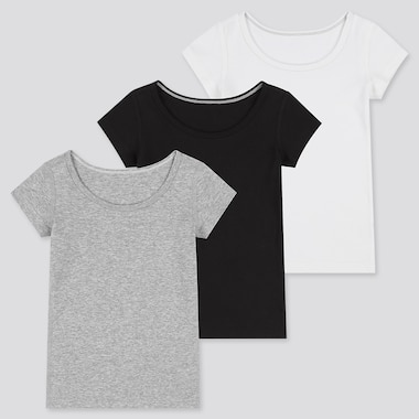 BABIES TODDLER RIBBED COTTON SHORT SLEEVED INNER T-SHIRT (THREE PACK)
