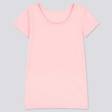 TODDLER HEATTECH SHORT-SLEEVE SCOOP NECK T-SHIRT, PINK, medium