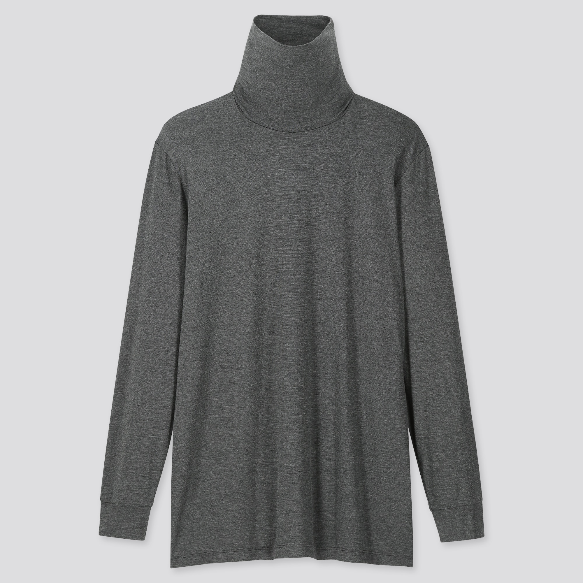 Men Heattech Long Sleeve Turtleneck T Shirt by Uniqlo